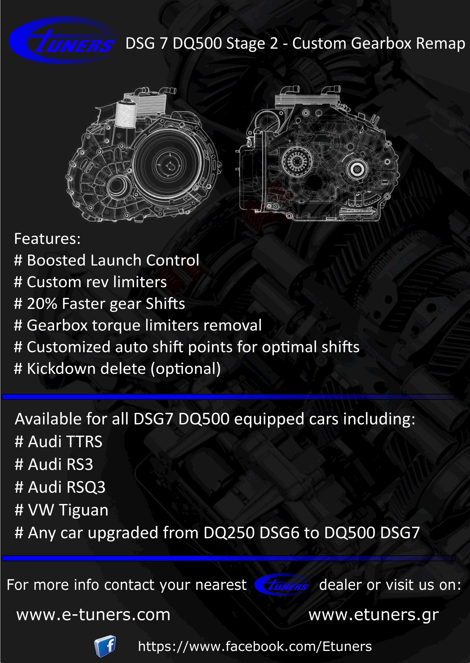 Dsg7 Dq500 Gearbox Stage 2 Remap Etuners