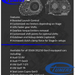 Temic DSG6 DQ250 Etuners gearbox remaps available for the Gen3/MQB platform