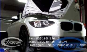 BMW 116i 1.6T F20 – Stage 1 98RON