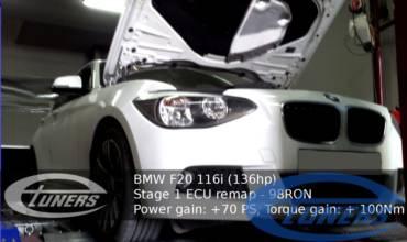 BMW 116i 1.6T F20 – Stage 1 98RON