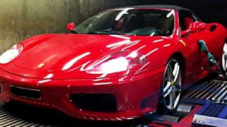 Ferrari 360 on dyno