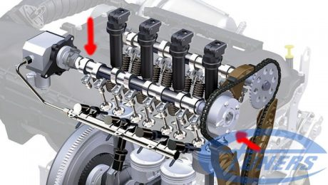 THP (Prince) engine cam shaft and variable cam timing mechanism