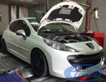 Peugeot 207 RC 1.6T Stage4 98RON (hybrid turbo+boubis cams)
