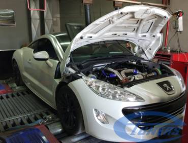 Peugeot RCZ 1.6T 156hp – Stage 4 Works turbo 95RON