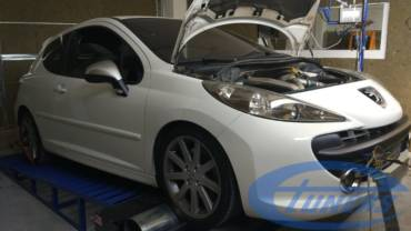 Peugeot 207 RC 1.6T – Stage4 K04 hybrid 95RON
