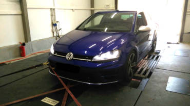 VW Golf 7R 2.0 TSI – Stage1+ 98RON (measured on a Dynojet rolling road)
