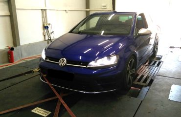 VW Golf 7R 2.0 TSI on Dynojet rolling road, with an Etuners Stage1+ ECU remap