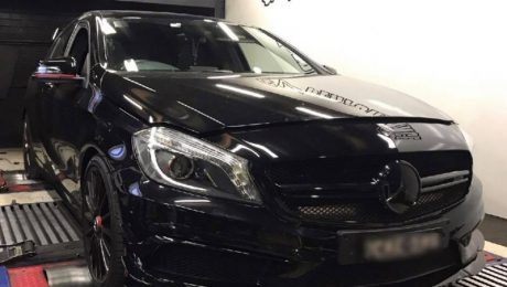 Mercedes A45 AMG 2.0T - Etuners Stage2 ECU remap on Dyno