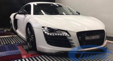 Audi R8 4.2 FSI + CFI design Twin Turbo kit - Etuners remap - on Dyno