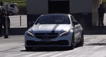 Mercedes C63S Coupe 4.0TT at Sydney Dragway, with an Etuners stage2 ECU remap