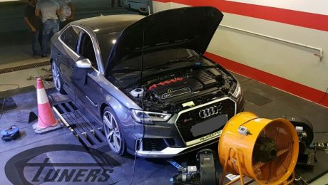 Audi RS3 8V 2.5 TFSI DAZA MY2017 - Etuners Stage1 custom ECU remap @ Dynojet