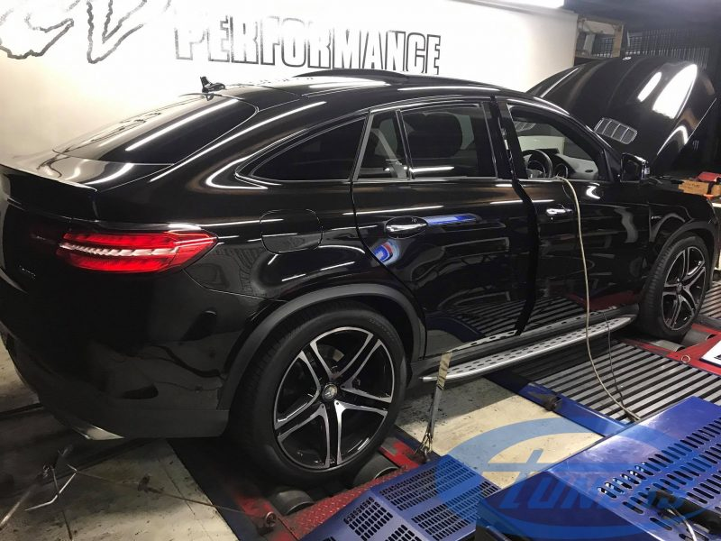 Mercedes GLE450 AMG 4MATIC 3.0T - for an Etuners Stage1 ECU remap, on DynoDynamics rolling road