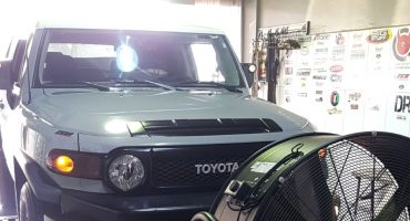 Toyota FJ Cruiser 4.0i, being remapped and tested on a Dynoject rolling road, in KTRT Performance