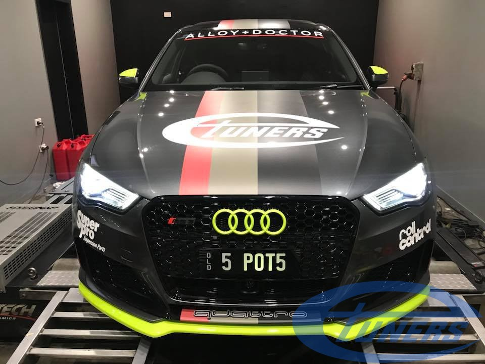 Greg's Audi RS3 8V 2.5 TFSI with a custom Etuners Stage2 ECU remap for E85