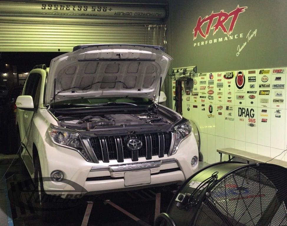 Toyota Prado 4.0i for an Etuners Stage1 ECU remap @ KtRt Performance