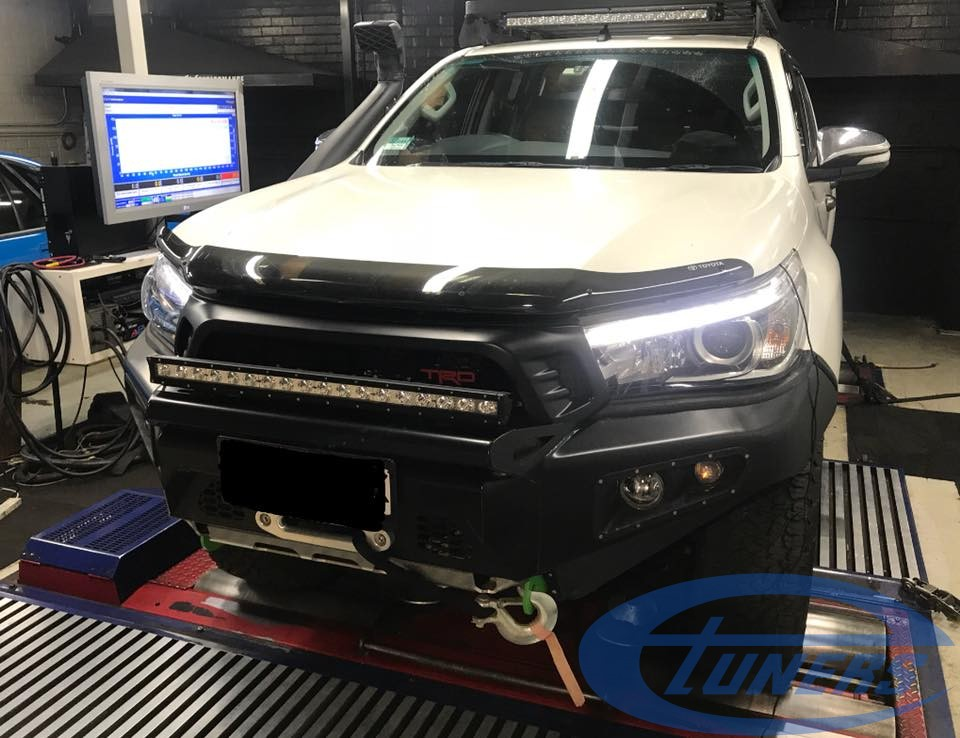 Toyota Hilux 2.8 diesel 1GD-FTV - Etuners Stage1 ECU remap on DynoDynamics rolling road