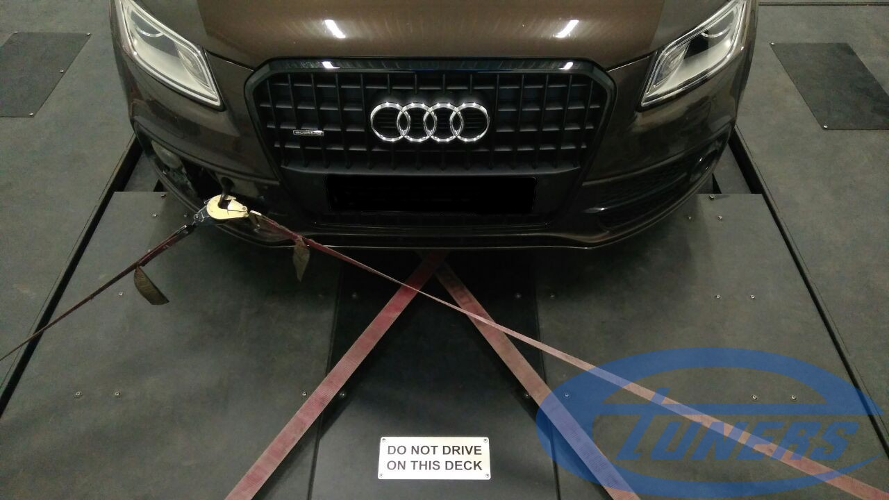 Audi Q5 - Etuners Stage3 remap with IS38 turbo on Dynojet rolling road dyno
