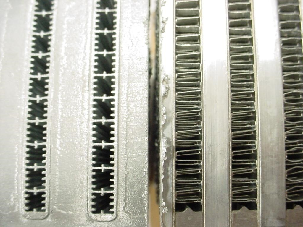 Upgraded Intercooler core technologies available for the RS3: Tube and fin versus Bar and plate