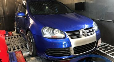 VW Golf 5 R32 + RUF Supercharger + Etuners Stage3 with Watermeth injection on dyno