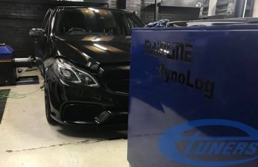 Remapping Mercedes E63 AMG 5.5T on an Etuners custom remap for hybrid turbos