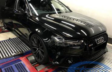 Audi RS6 C7 4.0 TFSI Etuners Stage2 98ron on dyno - DynoDynamics
