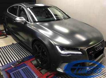 Audi RS7 C7 4.0TFSI – Stage2 + Water/methanol + Gearbox remap