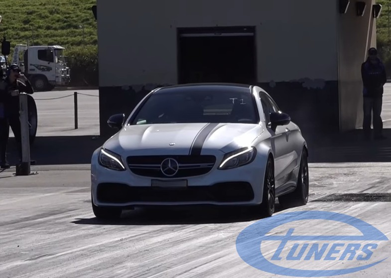 MERCEDES C63S 4 0TT AMG COUPE V8 BITURBO 1/4 MILE 11 18