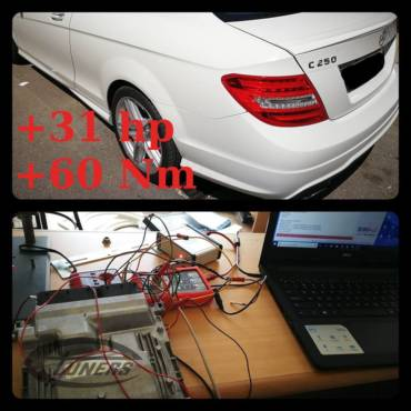 Mercedes C250 (W204) 1.8CGI – Stage1 98RON