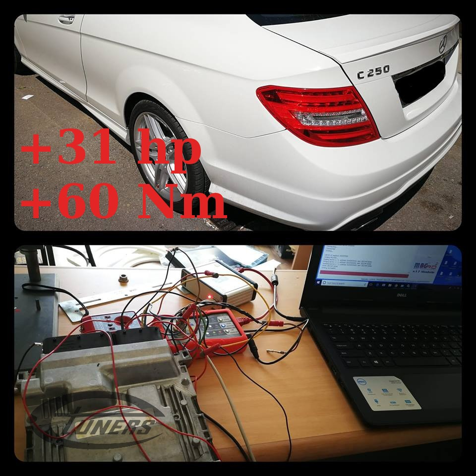 Mercedes C250 CGI 1.8Turbo - Etuners Stage1 98RON