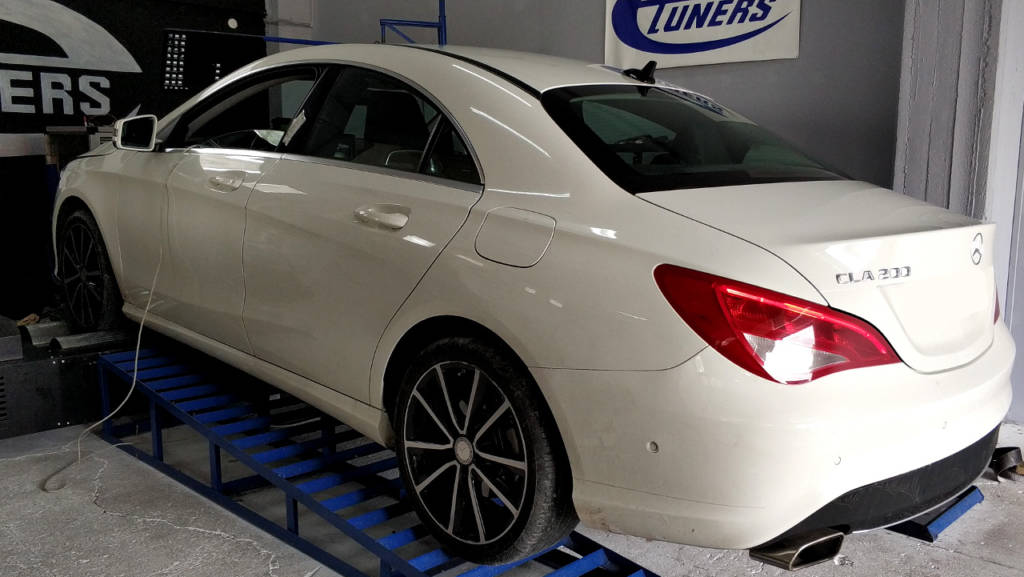 Mercedes CLA200 1.6T M270 - Etuners stage2 ECU remap tuning on dyno