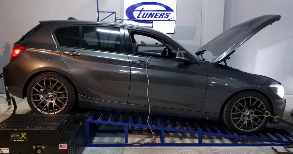 BMW 116i F20 1.6T - Etuners Stage2 ECU remap tune 98RON dyno