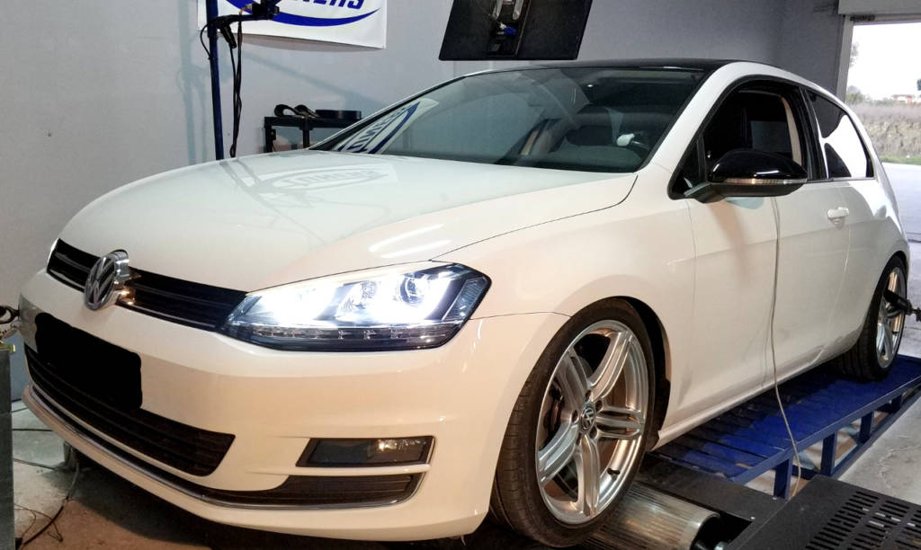 VW Golf 7 1.4TSI CPTA - Etuners Stage3 IS20 turbo kit dyno results tune remap