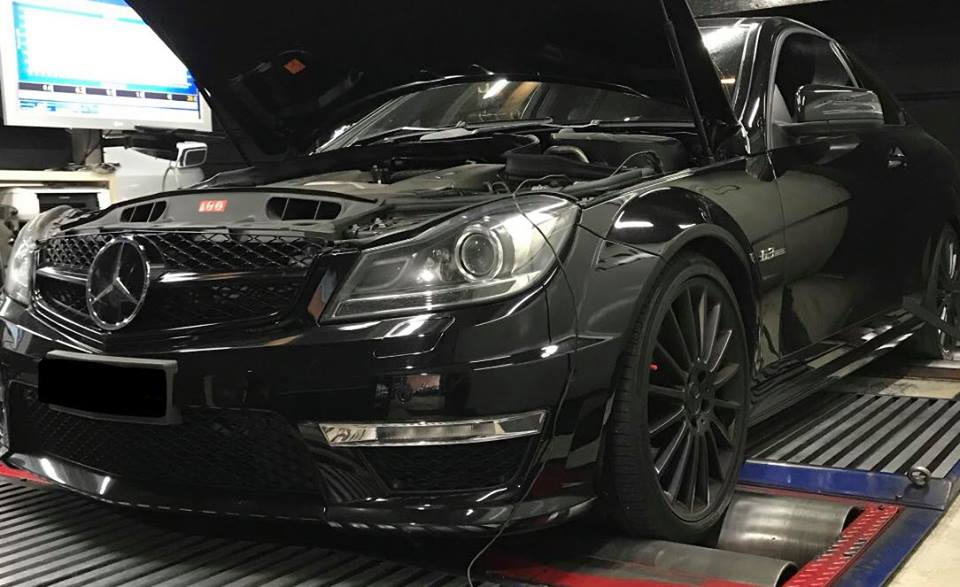 Mercedes C63 AMG stage1 98RON