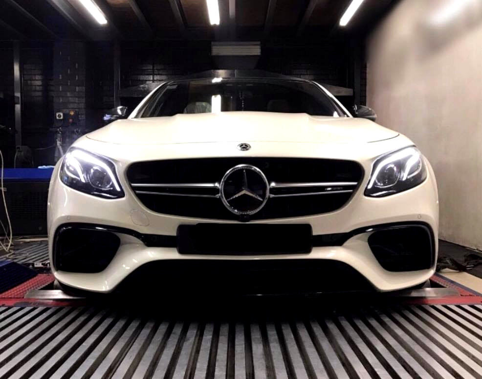 Mercedes E63S 4.0TT - #Etuners Stage2 ECU remap tune on dyno