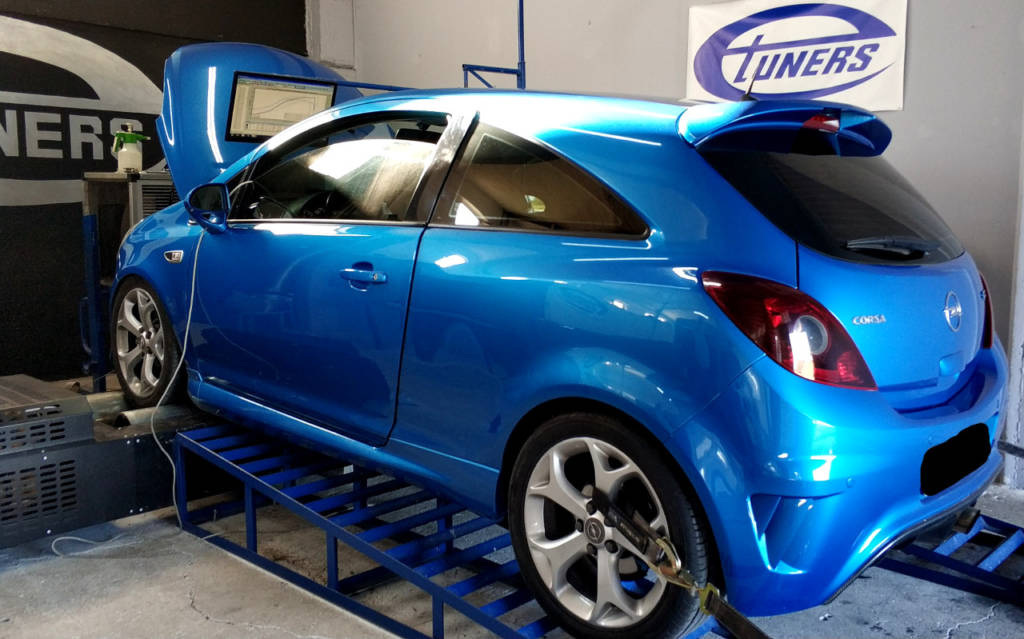Opel Corsa OPC 1.6T - Etuners Stage3 VF34 turbo kit on dyno