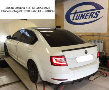 Skoda Octavia A7 1.8TSI Gen3 MQB – Stage3 IS20 upgrade 98RON