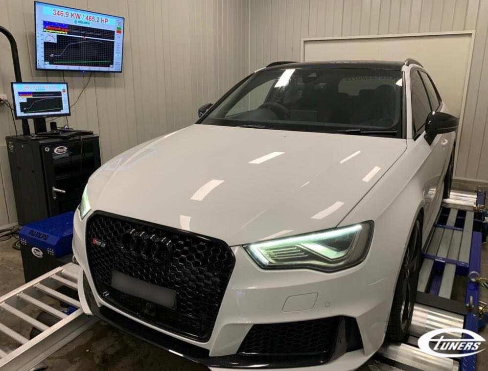 Audi RS3 8V.1 - Etuners custom sTage3 ecu remap tune for hybrid turbo on E85